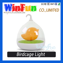 2015 New Design Cute Interesting Birdcage Battery Operated Bedroom Night Lamp For Kids