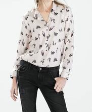 EY0416B Latest design woman tops ladies long sleeve fashion blouse flower print shirt