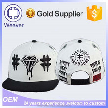 Cheap custom embroidery flat brim snapback cap for adults