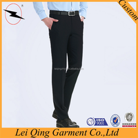 2015 black business casual non iron pants matching shirt and pants men wholesale