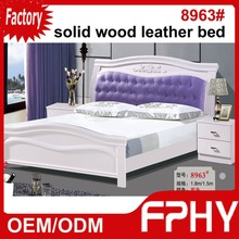 Factory Supply FPHY Solid Wood MDF panel leather 8963# water bed price