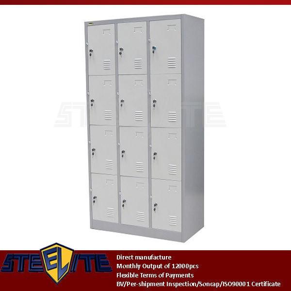 ... door locking clothing cabinet / 12 doors metal lockers storage cabinet