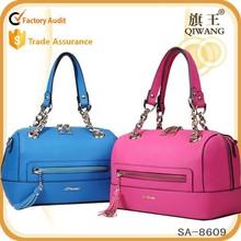 Elegant fancy ladies bag custom leather sling bag women leather bag with tassels