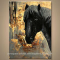 nova handmade impressionista de pintura a óleo animal para a decoração