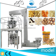 automatic weighing Fried diced chicken with nuts packaging machine