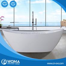 Hot sale Free standing acrylic bathtub Q157