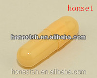 size 0# vegetable capsules with yellow color