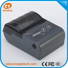 Battery powered mini thermal receipt portable printer support android and IOS tablet