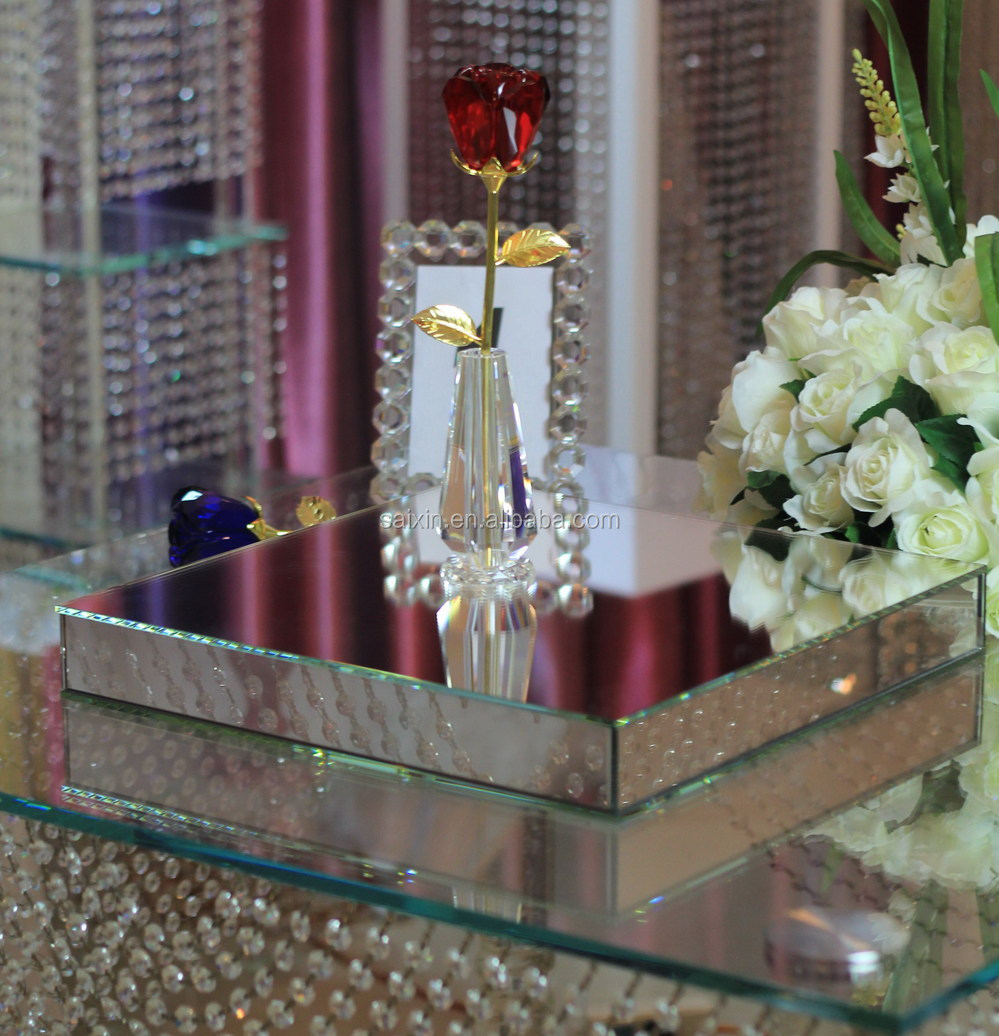 Beautiful glass mirror box for wedding decor buy beveled