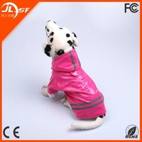 Hot Sale Fashional and Durable PU Material Reflective Dog Rain Coat SD-YF014