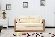 Oriental natural rattan space saving sofa bed/folding bed by handmade