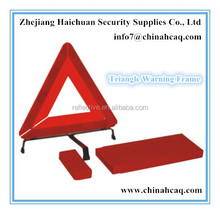 Reflective Warning Triangle Frame Triangular Accident Warning Signs For Car
