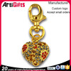 Made in china cheap nice heart shape metal key chain