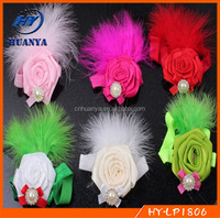hot sale beautiful baby headband infant headwrap with Feather Flower