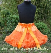 Halloween Orange Pettiskirt Pageant Party Tutu 1-10Y W09