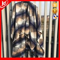 80%Acrylic 20%Polyester Winter Unisex Geometric Pashmina, Blanket