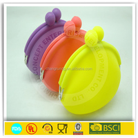 Wholesaler's Best Choice, Hot Sell Candy Color Girls Silicone Coin Purse,Soft Rubber Wallets Bag Case