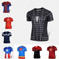 Wholesale Men Superhero costume t shirt Avengers Age of Ultron t shirt