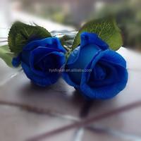 Realistic flowers blue rose bud decoration of wedding room