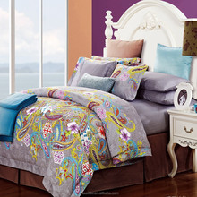 Hot sale romantic pattern bedding set,soft and smooth wide selection bedding set