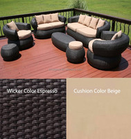 Bali Style 7Pc outdoor furniture Sofa synthetic rattan outdoor furniture SGC-130146A