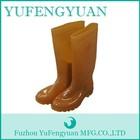 Anti- escorregamento natural materiais pvc custom made botas de chuva