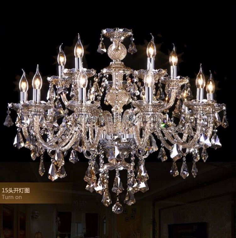 Wholesale 15 Arms Big Free Shipping Crystal Chandelier
