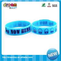 child fashion glow in the dark silicone bracelets