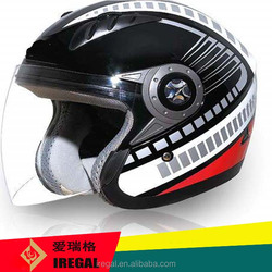 open face vintage helmet with attactive patterns