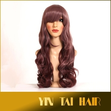 Women Long Hair Wig Curly Wavy Synthetic Anime Cosplay Full Wigs Fashion Hair