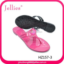 Beautiful&durable pvc sandals plastic crystal shoes