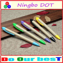 cheap Novelty Promotional Ballpoint Pen logoprinted Eco Pen hot sell