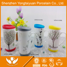 China supplier wholesale customized tea cup and saucer flower pot
