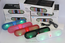 Mini bluetooth Speaker Wireless Bluetooth Speaker with LED Light showing for DJ,led light bluetooth speaker with FM radio