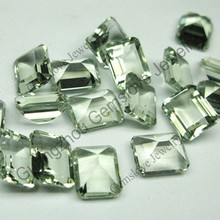 Octagon Shaped Natural Green Amethyst Special Light Green Gemstones Loose Natural Green Amethyst
