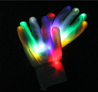 Hot selling fashion party decoration flashing led gloves with multicolors led lights growing gloves