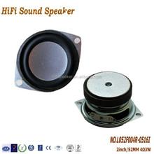 2Inch 52mm 4ohm 3W High Quality Bass Multimedia Speaker,Waterproof Full Range Speaker