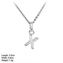 PSA-0026-X 925 Plain Silver Charm Pendant 26 Alphabet Letter Letter Alphabet
