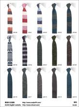 China de fábrica venta al por mayor promocional de la bufanda de la raya, acrílico tejer corbata