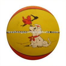 3# rubber colorful basketball