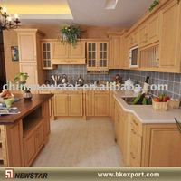 Knocked-down solid wooden kitchen models