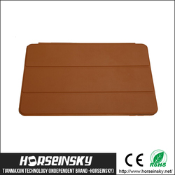 Brown color for ipad cover Office website Original folding leather flip cover for ipad,Smart cover for ipad, for ipad case