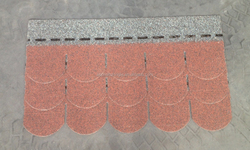best sale lightweight roofing material, professional manufactural red fishscale asphalt tiles