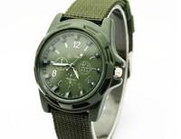 Best price 2015 Military Quartz Sport Watch Canvas Strap Fabric Soldier Ourdoor Running Wristwatch Clock