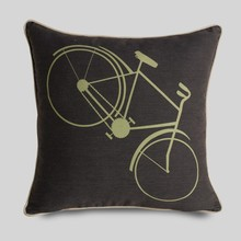 2015 New fashion cotton cushion cover pillow case bike printing brown cotton linen pillow case