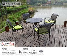 Cast aluminum elegant outdoor furniture/patio garden table and chairs/coffee table and chairs