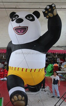 2015 high quality inflatable panda cartoon for show