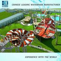 2015 hotest largest FRP king snake amusement park ride for sale