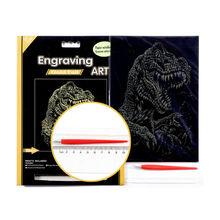 Ice Age 3 Sabertooth Dinosaur Gold Foil Paper Engraving Art Sets