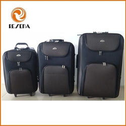 Shandong Silk Polyester 3 pcs Set Compass Luggage
